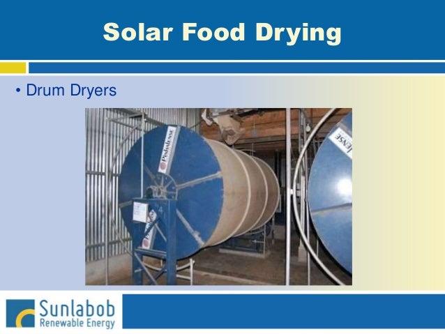 Solar Food Drying • Drum Dryers