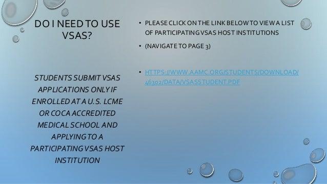VSAS Student Training