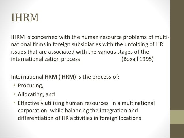 international hr issues ppt