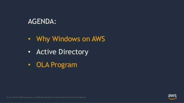 Microsoft Active Directory su AWS per supportare i tuoi Windows Workloads Slide 2