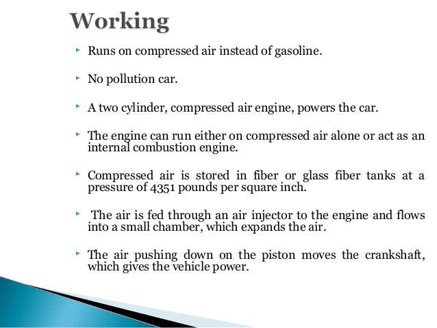 air powered car presentation