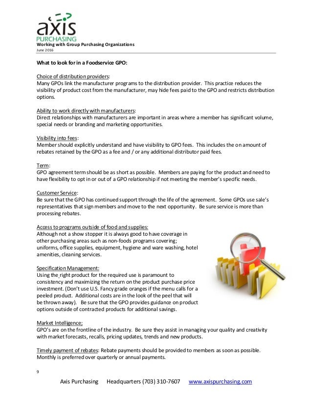Axis White Paper Working With Group Purchasing Organizations