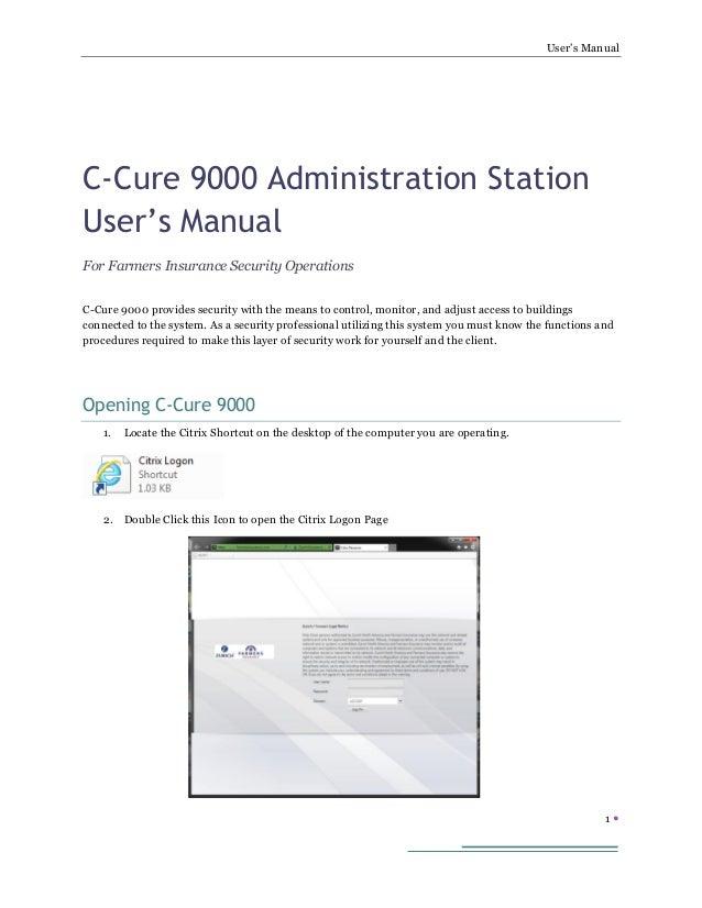 ccure 9000 admin user s manual rh slideshare net Ccure 9000 PDF GUI Software House Ccure 9000
