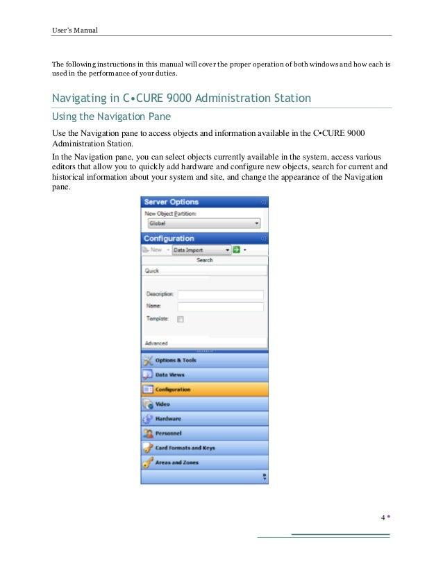 ccure 9000 admin user s manual rh slideshare net User Monitor End User