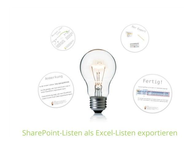 SharePoint Lektion #19: Listen in Excel öffnen und speichern