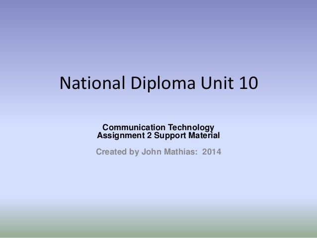 unit 10 communication Get access to p4 unit 10 communication technologies essays only from anti essays listed results 1 - 30 get studying today and get the grades you want.