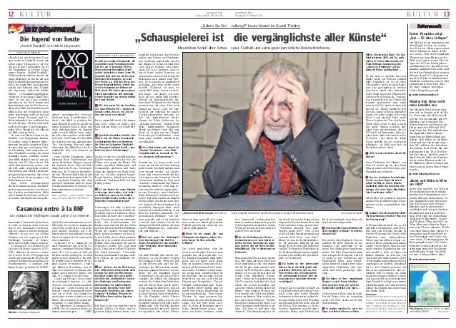 "12 KULTUR  Luxemburger Wort Freitag, den 19. Februar 2010  ""Lieben Sie Stri  LU ET (DÉS)APPROUVÉ ""Axolotl Roadkill"" von He..."