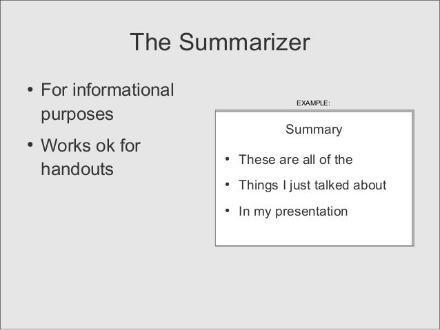 final slide ideas for concluding your presentation