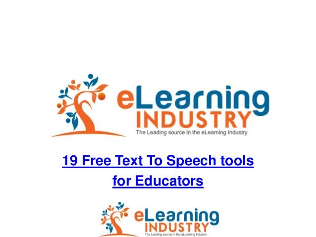 19 Free Text To Speech tools       for Educators