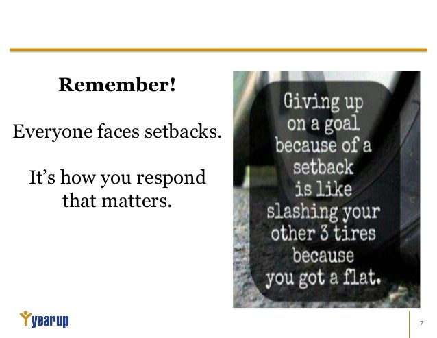 3 setbacks essay
