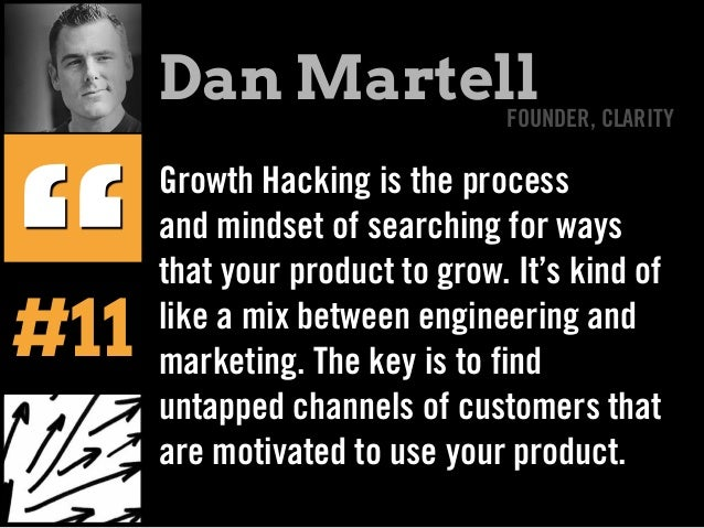 Growth Hacking is the process and mindset of searching for ways that your product to grow. It's kind of like a mix between...