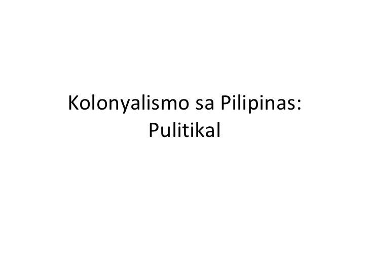 isyung pulitikal