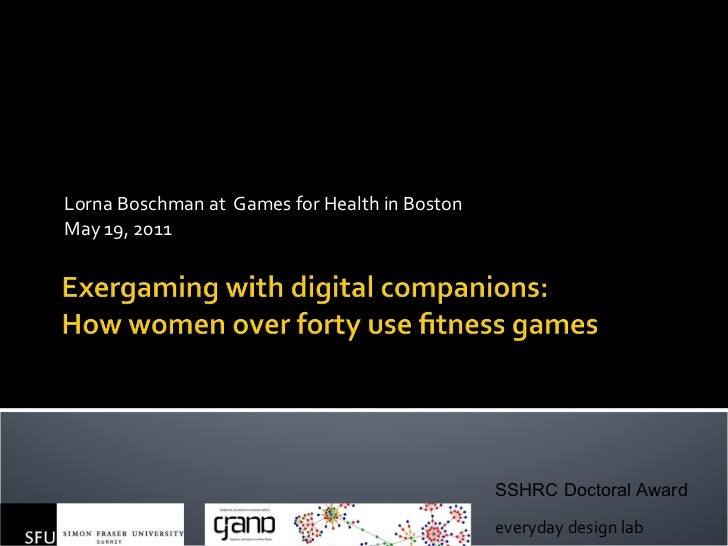 Lorna Boschman at  Games for Health in Boston May 19, 2011 everyday design lab SSHRC Doctoral Award