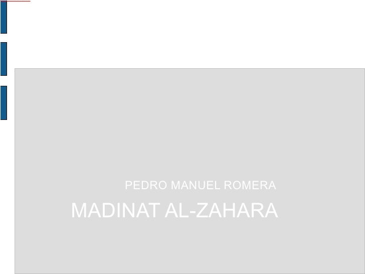 MADINAT AL-ZAHARA PEDRO MANUEL ROMERA