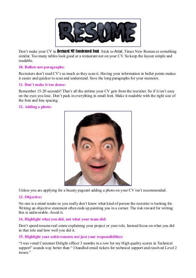 Funny Resume Mistakes  Funny Resume Mistakes