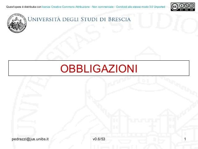 OBBLIGAZIONIQuest'opera è distribuita con licenza Creative Commons Attribuzione - Non commerciale - Condividi allo stesso ...