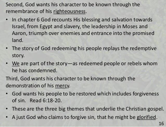 the leadership and righteousness of moses Four leadership lessons from moses  people also believed that god was with moses when it comes to church leadership it is imperative that the people understand.