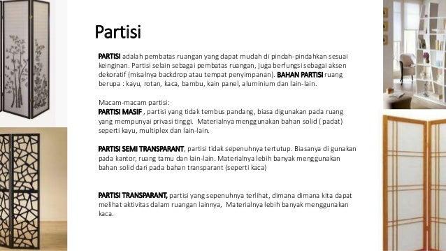 19 Partisi Dalam Interior