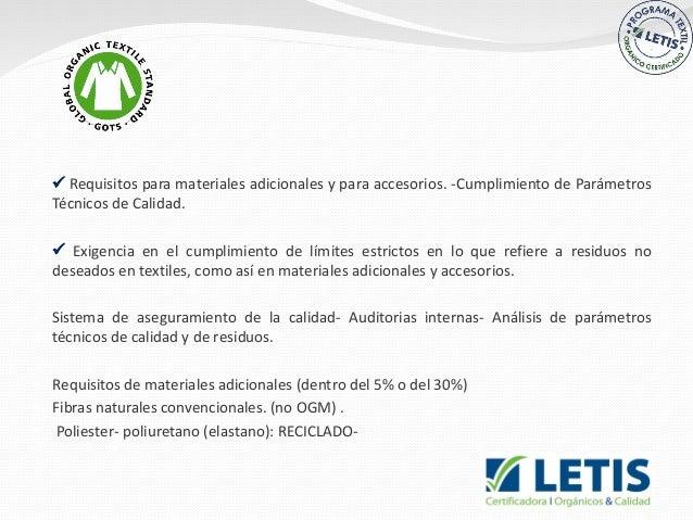   Requisitos para materiales adicionales y para accesorios. -Cumplimiento de Parámetros Técnicos de Calidad.   Exigenc...