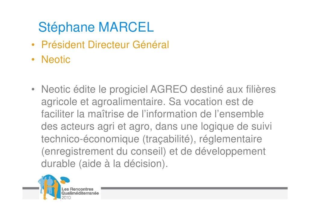 Bernard RAYNAUD• Directeur, Direction Agriculture Durable et  Développement• Coopérative Union In Vivo• InVivo est le prem...