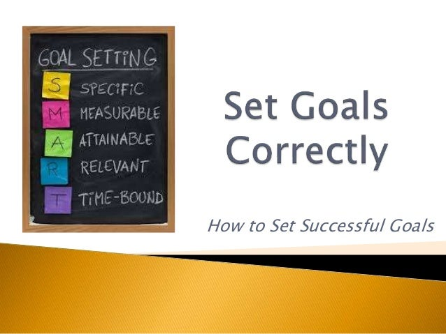 How to Set Successful Goals