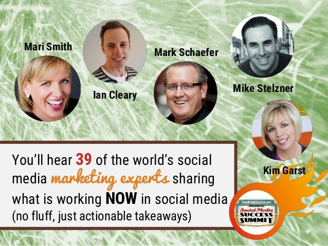 You'll hear 39 of the world's social media marketing experts sharing what is working NOW in social media (no fluff, just a...