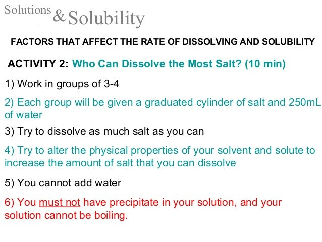 how does stirring affect solubility