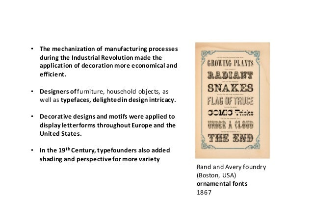 Industrial Revolution and 19th century