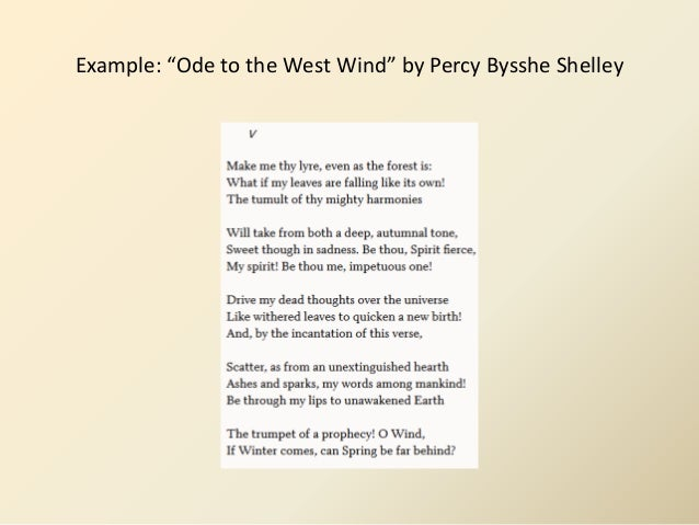 shelleys ode to the west wind english literature essay Ode to the west wind is an ode, written by percy bysshe shelley in 1819 near florence, italy it was originally published in 1820 by charles and edmund ollier in.