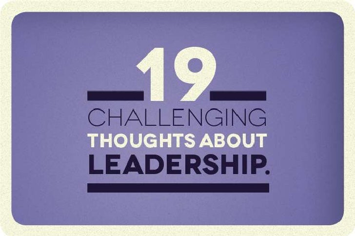 19 thoughts Thoughts about Leadership - Update