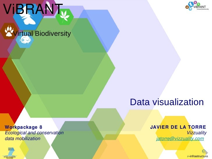 Data visualization Virtual Biodiversity ViBRANT JAVIER DE LA TORRE Vizzuality [email_address]   Workpackage 8 Ecological a...