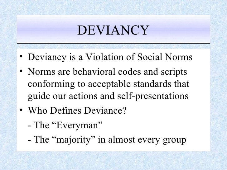 norms violation essay Sample essay words 1,230 in a society, different types of clothing are often used to delineate the different spheres of an individual's life such as work, play, the public sphere and the private sphere (breward, 1999).