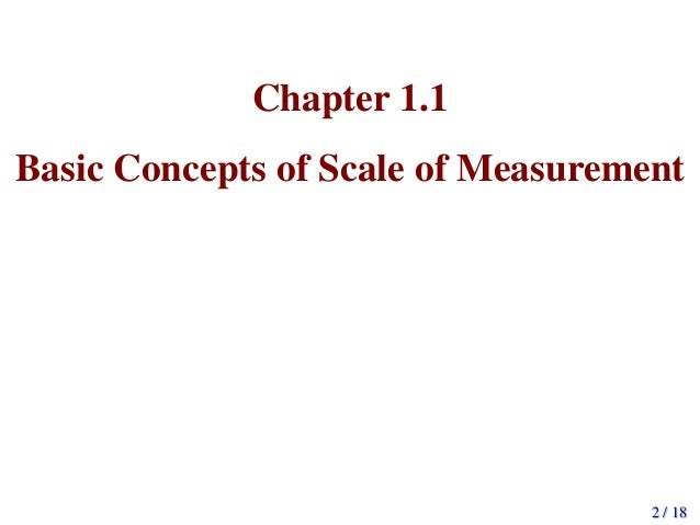 measurement and scaling concepts essay • 1 paragraph in which you differentiate between the levels of measurement by providing an example of data that can be transformed from one level of measurement to another, and another example of data that cannot be transformed.