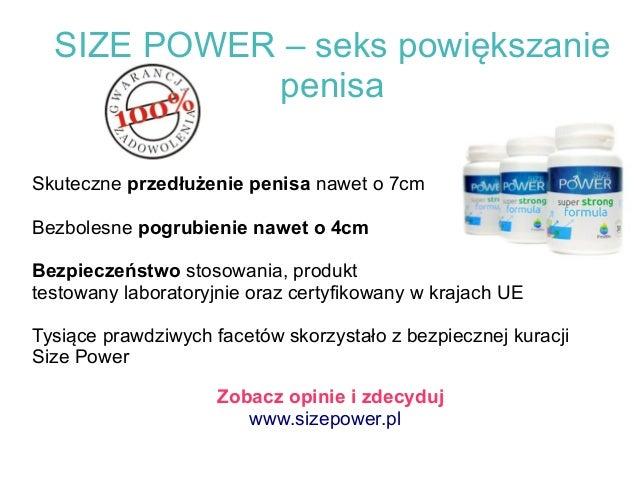 SIZE POWER – seks powiększanie penisa Skuteczne przedłużenie penisa nawet o 7cm Bezbolesne pogrubienie nawet o 4cm Bezpiec...