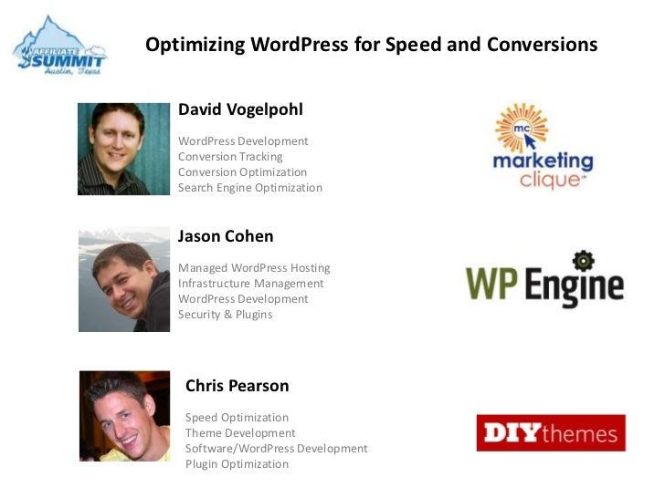 Optimizing WordPress for Speed and Conversions   David Vogelpohl   WordPress Development   Conversion Tracking   Conversio...