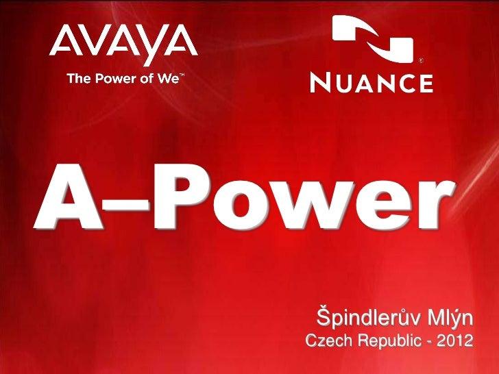 A–Power     Špindlerův Mlýn    Czech Republic - 2012