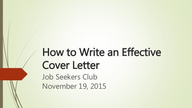 writing an effective cover letter how to write an effective cover letter 25832