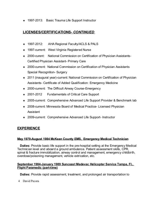 Top   emergency medicine physician resume samples SlideShare