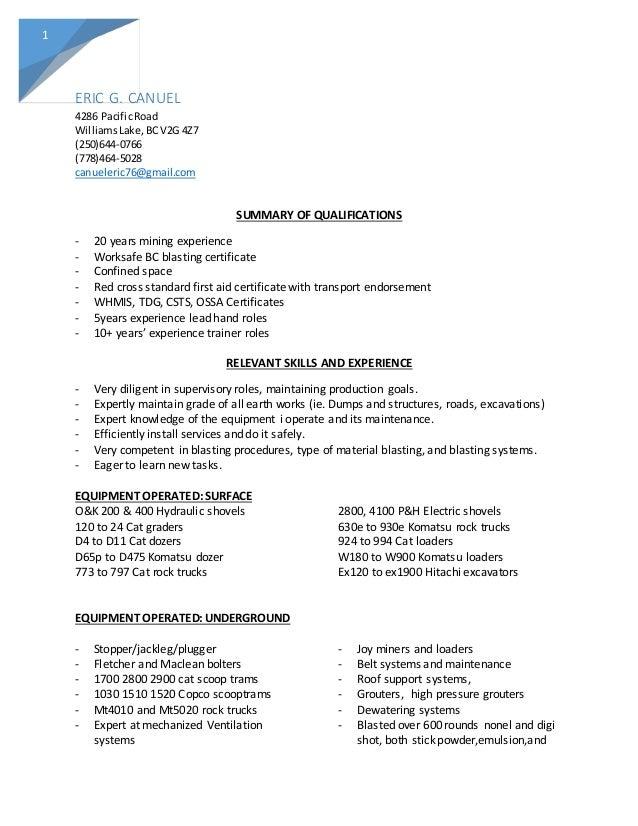 Eric canuel resume