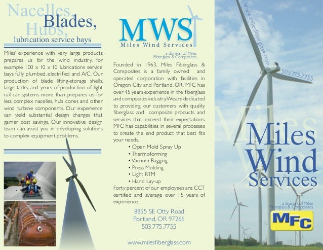503.775.7755 Founded in 1963, Miles Fiberglass & Composites is a family owned and operated corporation with facilities in ...