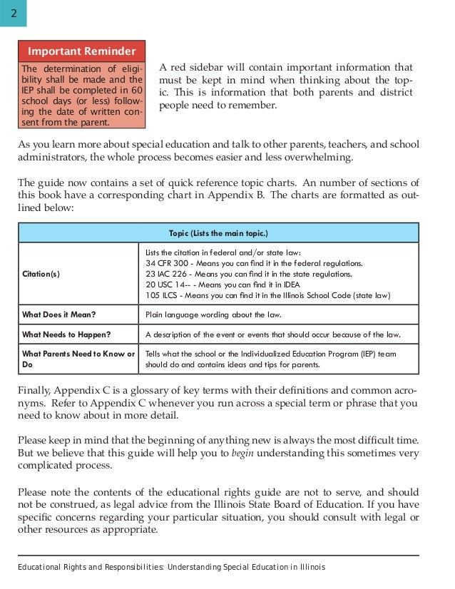Important Special Education Rights That >> Educational Rights And Responsibilities Understanding Special Educat