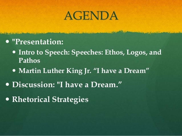 Martin Luther King his usage of ethos pathos mythos and logos