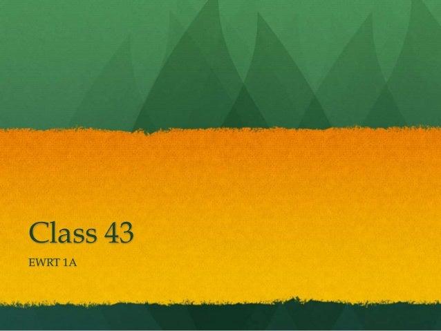 Class 43 EWRT 1A