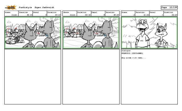 Scene 1cont. Duration 06:14 Panel 8 Duration 00:18 Scene 1cont. Duration 06:14 Panel 9 Duration 00:20 Scene 2 Duration 11:...
