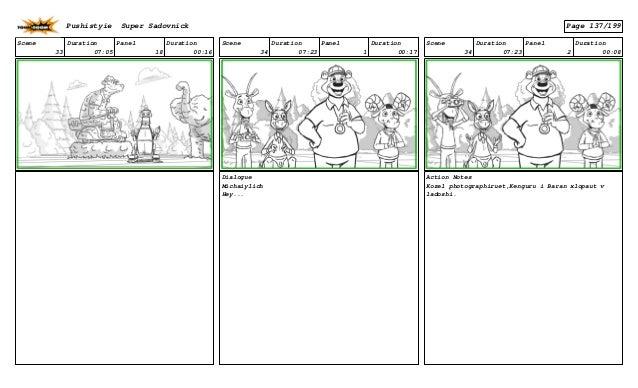 Scene 33 Duration 07:05 Panel 18 Duration 00:16 Scene 34 Duration 07:23 Panel 1 Duration 00:17 Dialogue Michaiylich Hey......