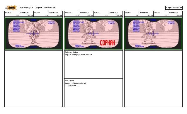 Scene 36 Duration 08:02 Panel 13 Duration 00:16 Scene 36 Duration 08:02 Panel 14 Duration 00:18 Action Notes Zayaz otpryig...