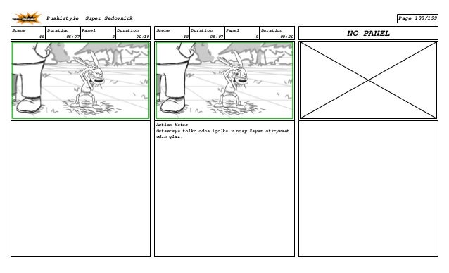 Scene 48 Duration 05:07 Panel 8 Duration 00:10 Scene 48 Duration 05:07 Panel 9 Duration 00:20 Action Notes Ostaetsya tolko...