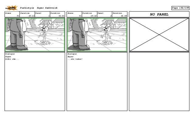 Scene 51 Duration 15:13 Panel 1 Duration 01:01 Dialogue Zayaz Schto zhe... Scene 51 Duration 15:13 Panel 2 Duration 01:08 ...