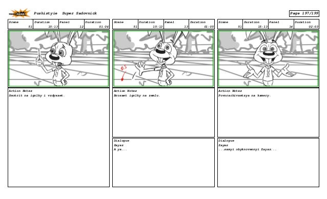 Scene 51 Duration 15:13 Panel 12 Duration 01:06 Action Notes Smotrit na igolky i vzdyxaet. Scene 51 Duration 15:13 Panel 1...