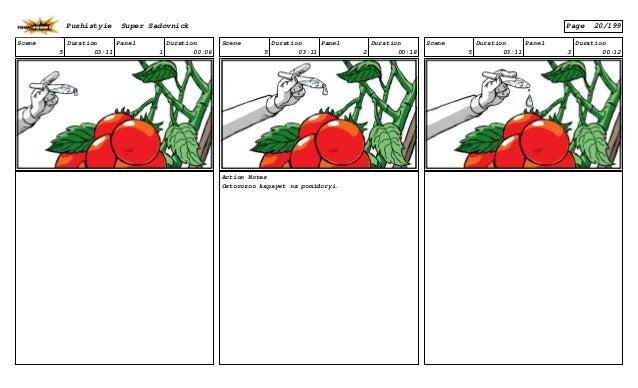 Scene 5 Duration 03:11 Panel 1 Duration 00:06 Scene 5 Duration 03:11 Panel 2 Duration 00:18 Action Notes Ostorozno kapayet...